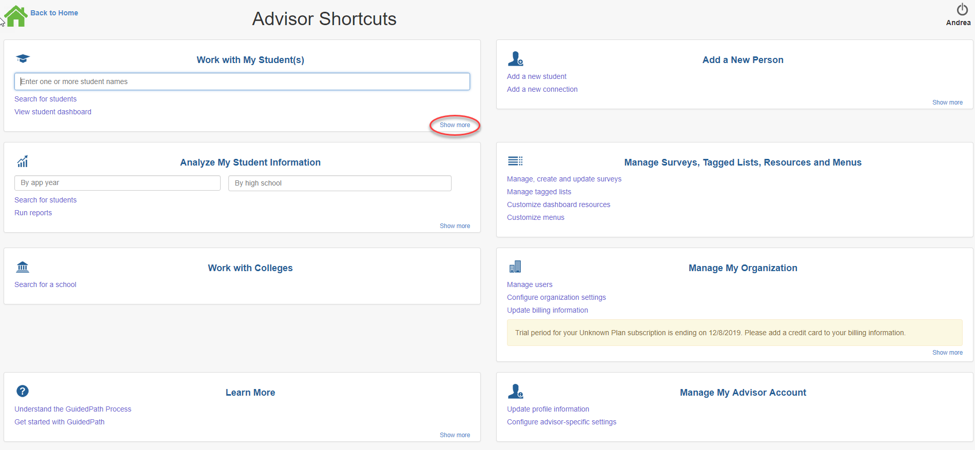 advisor_shortcuts.png